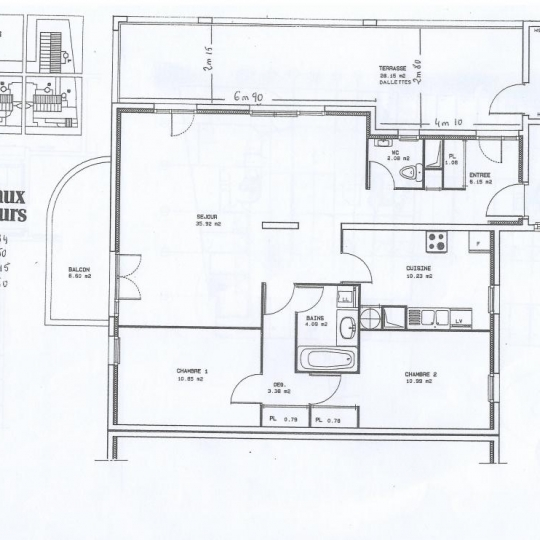 Alpes immobilier : Appartement | GRENOBLE (38100) | 86.00m2 | 234 000 €