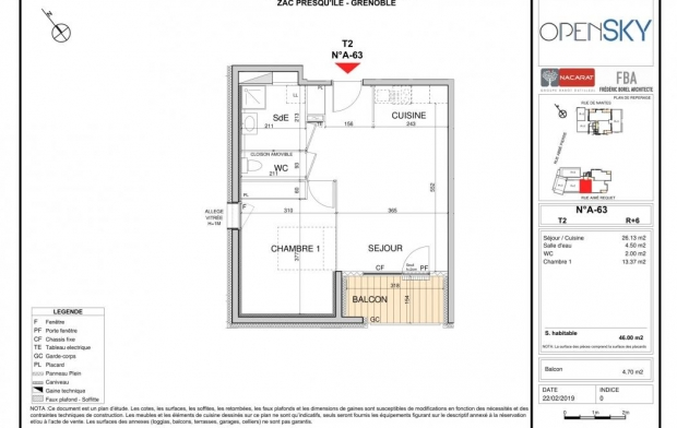 Alpes immobilier : Appartement | GRENOBLE (38000) | 46 m2 | 195 000 €
